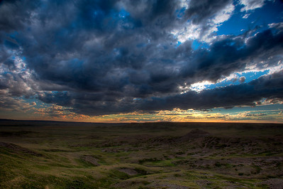 Sunset over Grasslands National Park, Saskatchewan