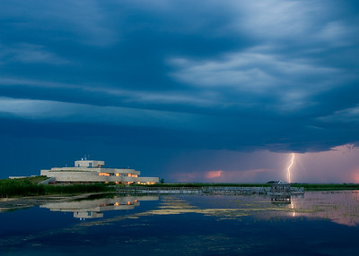 Lightning at Oak Hammock Marsh, Manitoba