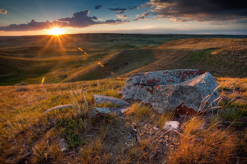 Frenchman Valley Sunset, Saskatchewan