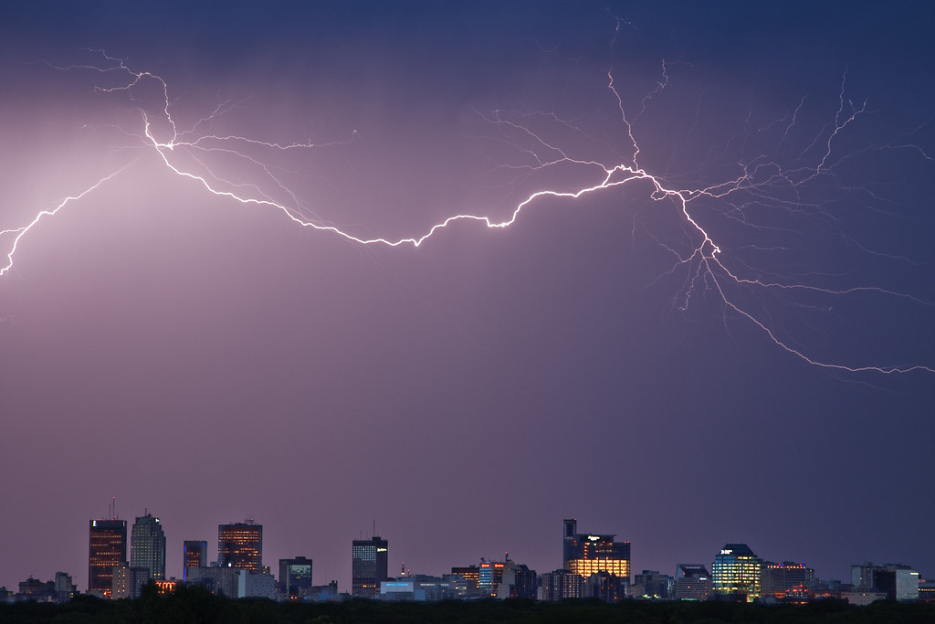 Ligthning Over Winnipeg, Manitoba