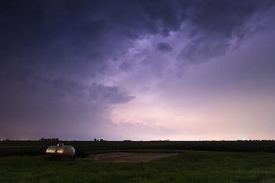 Storm clouds over Remington, Indiana