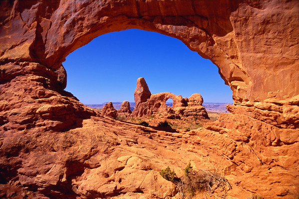 Turret Arch through the Eye of the North Window.
