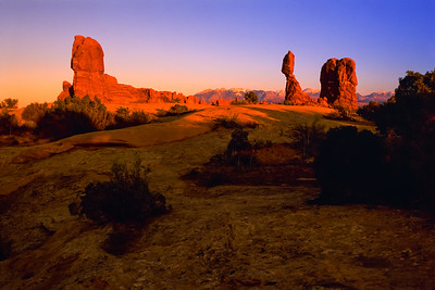 Last Light at Balanced Rock.