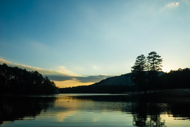Stone Mountain Sunset.