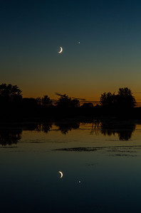 Crescent Moon and Venus Conjunction