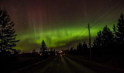 Aurora Borealis Over Canaan Road