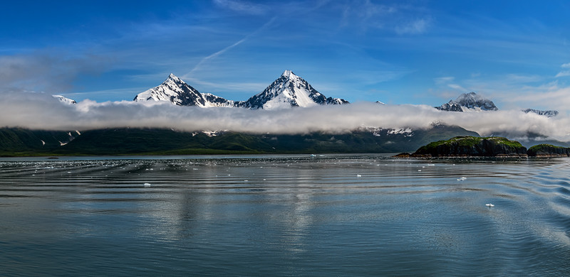 Low Clouds Mountain Peaks