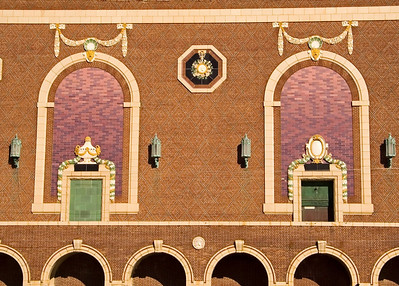 Wall detail of Convention Hall in Asbury Park, along the Jersey shore.