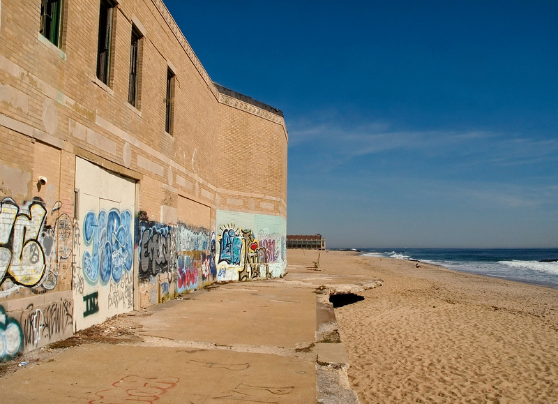 The back of the former old Casino in Asbury Park, along the Jersey shore.