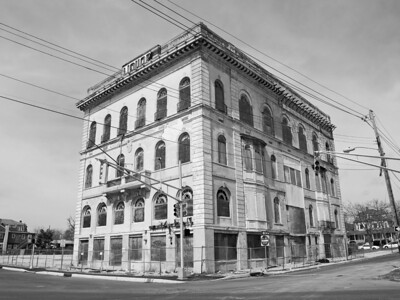 The former abandoned Charms aka Elks building in Asbury Park, along the Jersey shore.