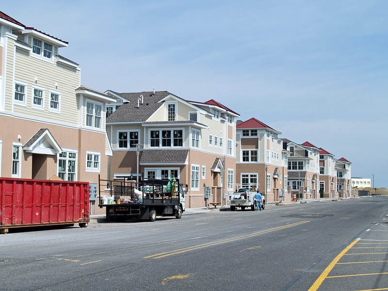 New construction in Asbury Park, along the Jersey shore.
