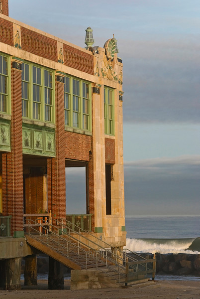 The Convention Hall in Asbury Park on the ocean along the Jersey shore.