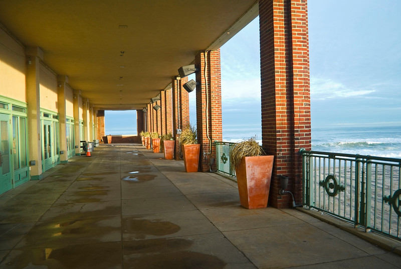 The walkway near the ocean of Convention Hall in Asbury Park.