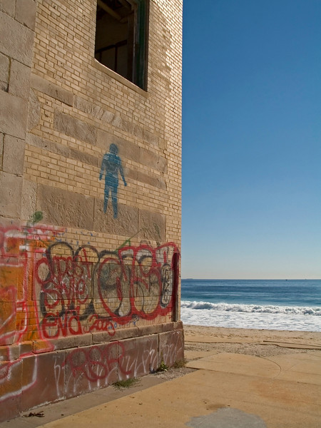 Graffiti on the old casino wall in Asbury Park, along the Jersey shore.