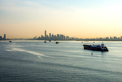 Hazy Morning New York Harbor