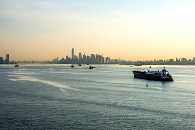 Hazy Morning New York Harbor