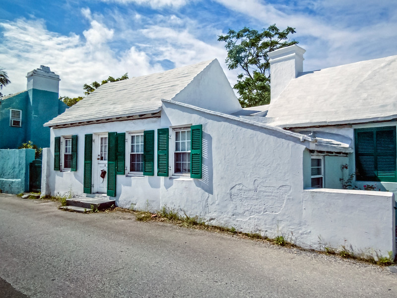 Home With White Painted Roof