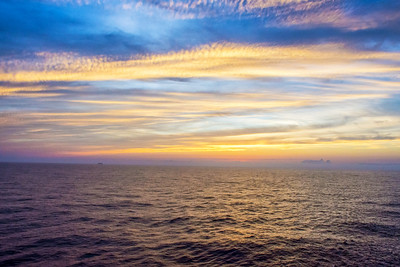After Sunset at Sea