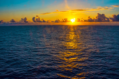 Sunrise on the North Atlantic