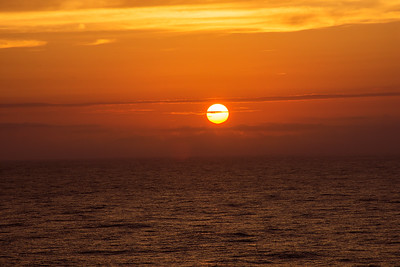 Sun Setting at Sea