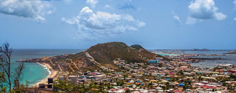 St Maarten Coastline Panorama