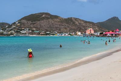 St. Maarten Beach Scene