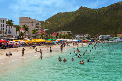 Mountains and Beach St Marteen