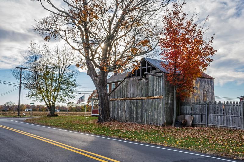 Rural Barn Along the Road