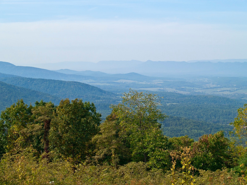 """""""Valley View""""<br /> A view of the Blue Ridge Mountains in Shenandoah National Park in West Virginia."""