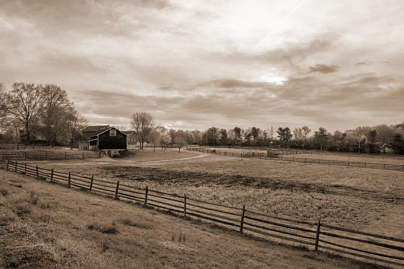 Rural Farm Sepia