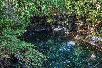 Cenote Waterfall