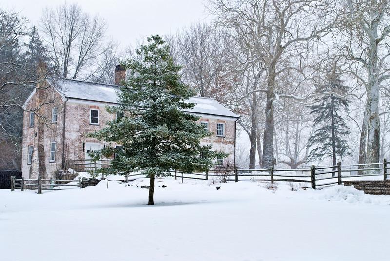 Winter Scene Allaire Village