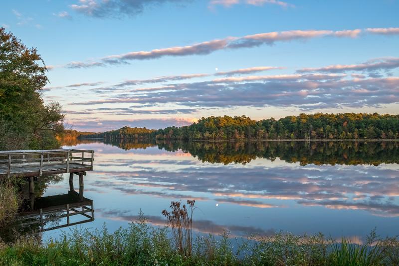 Sunset Along the Lake