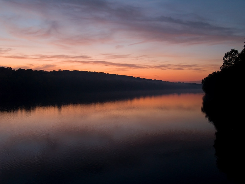 """""""Delaware Sunrise"""" 2<br /> The sunrise over the Delaware River near Washington Crossing between New Jersey and Pennsylvania."""