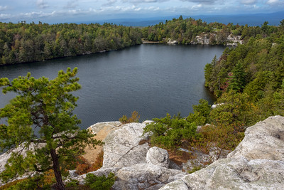 Overlooking Lake Minnewaska