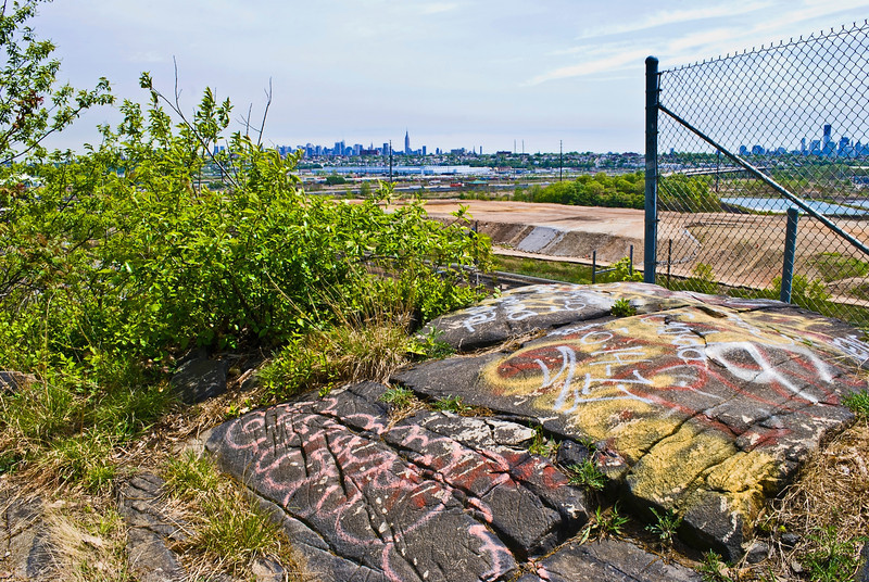 """""""Graffiti Snake Hill""""<br /> Snake Hill, also known as fraternity rock due to the graffiti on the stone visible from the NJ Turnpike.  This view however is from the top!"""
