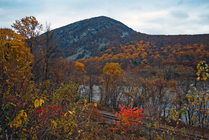 """Delaware Water Gap Fall""<br /> An Autumn view of the Delaware Water Gap in the Pocono Mountains of Pennsylvania."