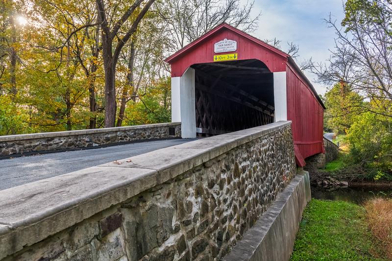 Van Sandt Covered Bridge View