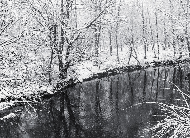 Weamaconk Creek and Snow