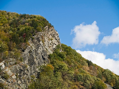 """""""Mountainside""""  A cliff against the blue sky in the Delaware Water Gap National Recreation Area between New Jersey and Pennsylvania."""