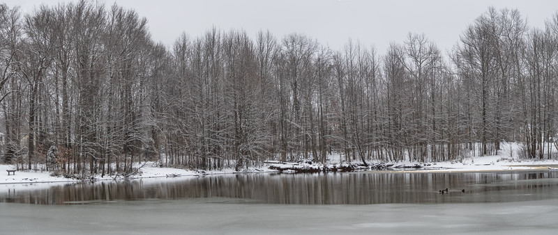 Frozen Lake Panorama