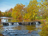 """""""Autumn Park Falls"""" 2008<br />   A beautiful park in Bucks County, Pennsylvania with a waterfall<br /> surrounded by Autumn trees."""
