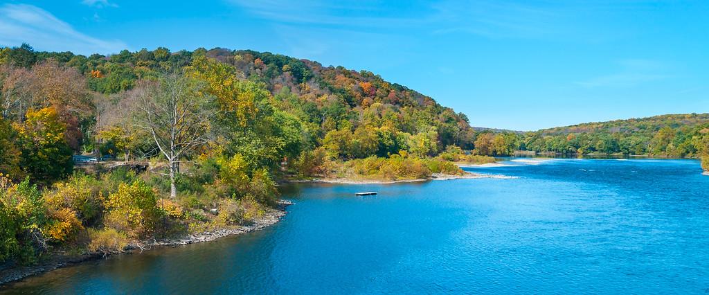 Scenic Delaware River Panorama