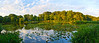 """Park Pond Panorama"" A twilight view of a Middlesex County Park pond in New Jersey."