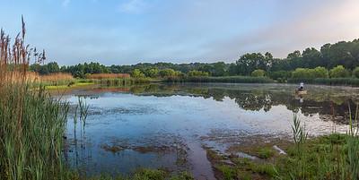 Swamp Fishing Panorama