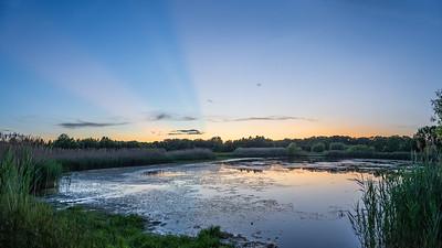 Pond Dusk Panorama