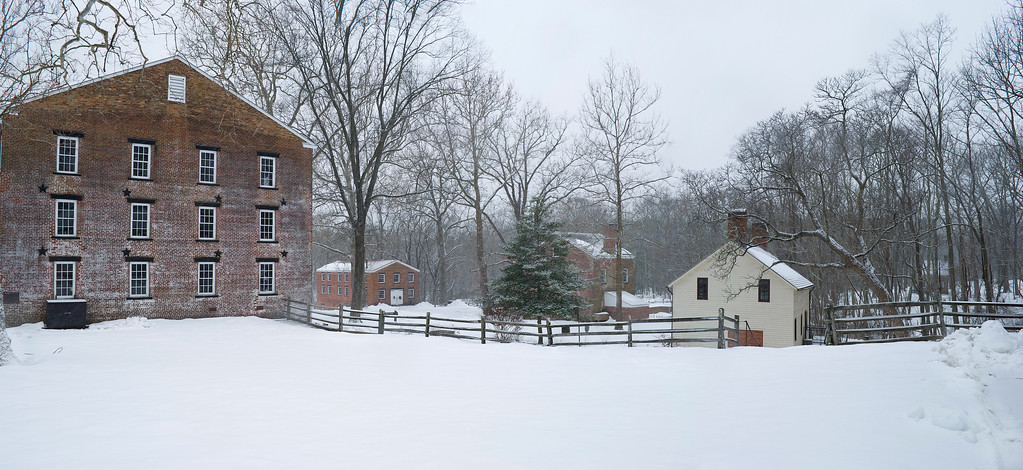 """Allaire Winter Panorama""  A panoramic Winter view of Allaire State Park in Central, New Jersey."