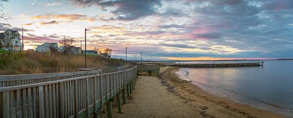 Laurence Harbor Sunset Panorama
