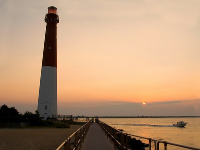 The Barnegat Lighthouse on Long Beach Island along the Jersey Shore.