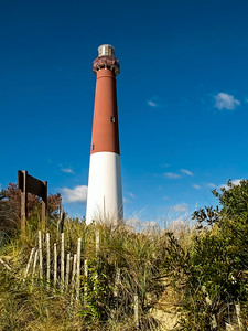 """Lighthouse From Dunes"" The Barnegat Lighthouse on Long Beach Island along the Jersey Shore."